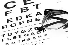 Glowing eyechart Royalty Free Stock Images