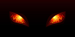 Glowing eyes. Vector illustartion. This is file of EPS10 format Royalty Free Stock Image