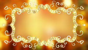 Glowing fancy banner on blurred background Royalty Free Stock Photos