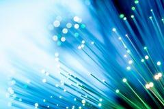 Glowing Fiber Channels Stock Photo