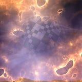 Glowing fiery background Stock Image