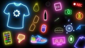 Glowing figures teen theme stock footage