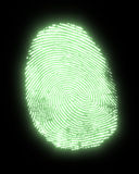 Glowing fingerprint Royalty Free Stock Photo