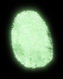 Glowing fingerprint Royalty Free Stock Photo