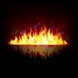 Glowing Fire Flame. Illustration of glowing fire flame with sparks Stock Photos