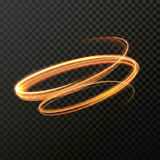 Glowing fire swirl spiral. Vector abstract light effect Stock Images