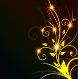 Glowing floral background Royalty Free Stock Images