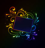 Glowing floral frame Royalty Free Stock Photo