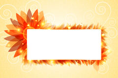 Glowing flower banner Stock Photography