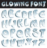 Glowing font Royalty Free Stock Images