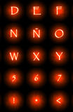 Glowing font Stock Photography