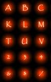 Glowing font Stock Photos