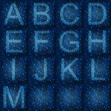 Glowing fonts on digital background. Glowing blue fonts on digital abstract background Stock Photography