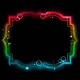 Glowing frame. On a black background. Mesh.This file contains transparency stock illustration
