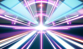 Glowing futuristic tunnel background Royalty Free Stock Image
