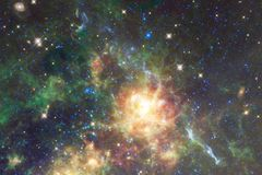 Glowing galaxy, awesome science fiction wallpaper stock illustration