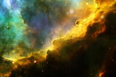 Glowing galaxy, awesome science fiction wallpaper royalty free stock photography