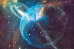 Glowing galaxy, awesome science fiction wallpaper. Elements of this image furnished by NASAnd royalty free stock image