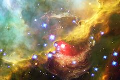 Glowing galaxy, awesome science fiction wallpaper royalty free stock photos