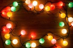 Glowing garland Stock Photo