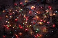 Glowing garland Stock Image