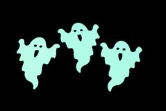 Glowing ghosts Royalty Free Stock Images