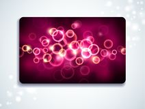 Glowing gift card Royalty Free Stock Image