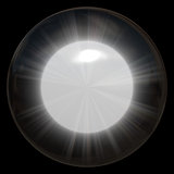 Glowing Glass Sphere. A bright glowing glass sphere or crystal ball vector illustration