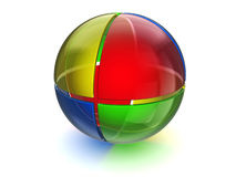 Glowing glass sphere Royalty Free Stock Images