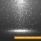 Glowing glitter light effects isolated realistic. Royalty Free Stock Image
