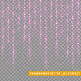 Glowing glitter light effects  realistic. Christmas decoration design element. Stock Photography
