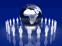 Glowing Global Team - Europe, Africa Stock Images