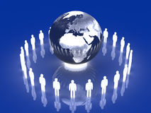 Glowing Global Team - Europe, Africa Stock Photo