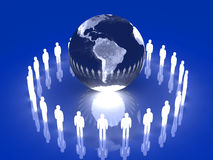 Glowing Global Team - South America Stock Photography
