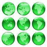 Glowing globe views #2. Rasterized pseudo 3d  glowing  globe views Stock Photo