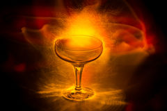 Glowing Goblet of Power Stock Images