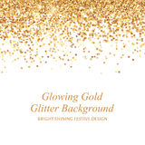 Glowing gold glitter vector illustration. Stock Images