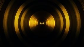 Gold Round Circular Waves Tunnel VJ Loop Motion Background V1. Glowing Gold Round Circular Waves Tunnel VJ Loop Motion Background V1 Backdrop stock video