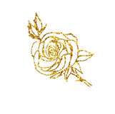 Glowing golden rose Royalty Free Stock Images