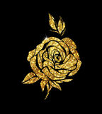 Glowing golden rose Stock Image