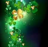 Glowing golden shamrock Stock Photography