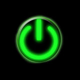 Glowing green button Royalty Free Stock Photo