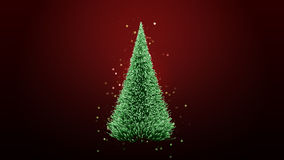 Glowing green christmas tree Royalty Free Stock Image