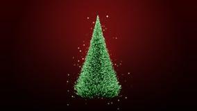 Glowing green christmas tree Royalty Free Stock Image