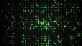 Glowing green digital HEX data code Royalty Free Stock Photos