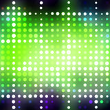 Glowing Green Dots. Abstract background with glowing green circles and colorful accents Royalty Free Stock Image