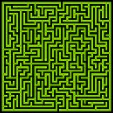 Glowing green maze Royalty Free Stock Photo