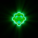 Glowing Green Nuclear Core. 3d render of a glowing green nucleus Stock Photography