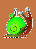 Glowing green snail Royalty Free Stock Images