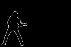 Glowing guitar Player Royalty Free Stock Photography